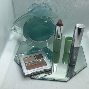 Clinique Eye shadow, blush, mascara, lipstick lot